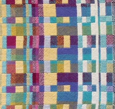 double weave blocks of colour