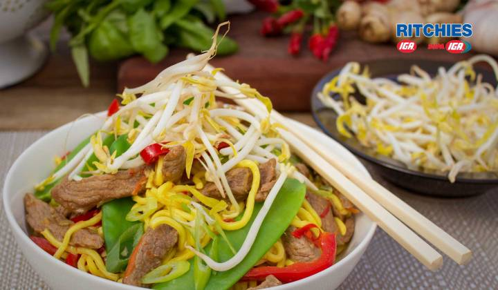 beef and chilli stir fry