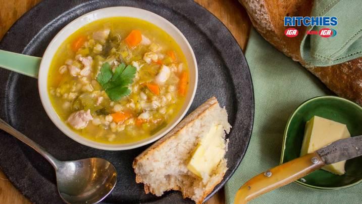 chicken leek barley soup