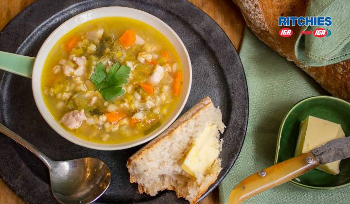 chicken leek barley soup
