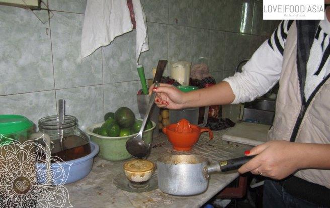 Preparing Ca Phe Trung