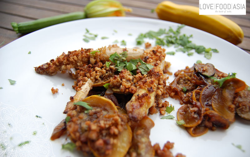 Thai Zucchini-Asparagus Gratin