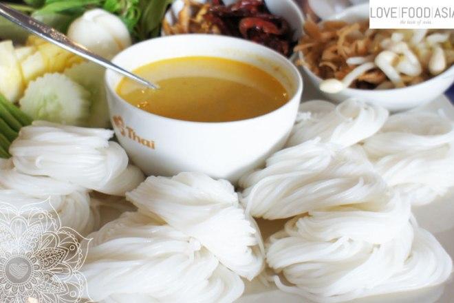 Thai Rice noodles Khanom chin
