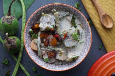 Green Thai Curry with smoked Tofu