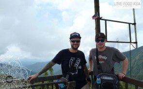 Matthias und ich auf der Aussichtsplattform