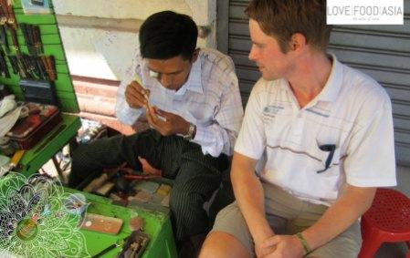 Auf den Straßen von Rangun
