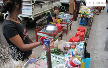 Betelnussstand in Rangun