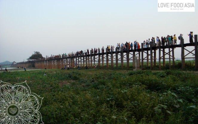 Wooden bridge in Amarapura