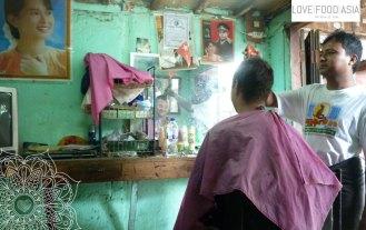 Haircut in Bagan