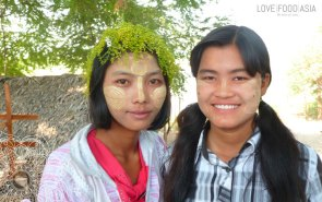 Two local girls in Inwa (Ava)