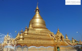 Golden stupa in Mandalay