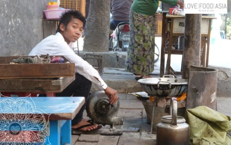 Boy making tea in Mandalay