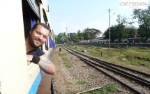 On the train to Mandalay