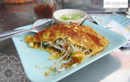 Thai Omelette in Sukhothai