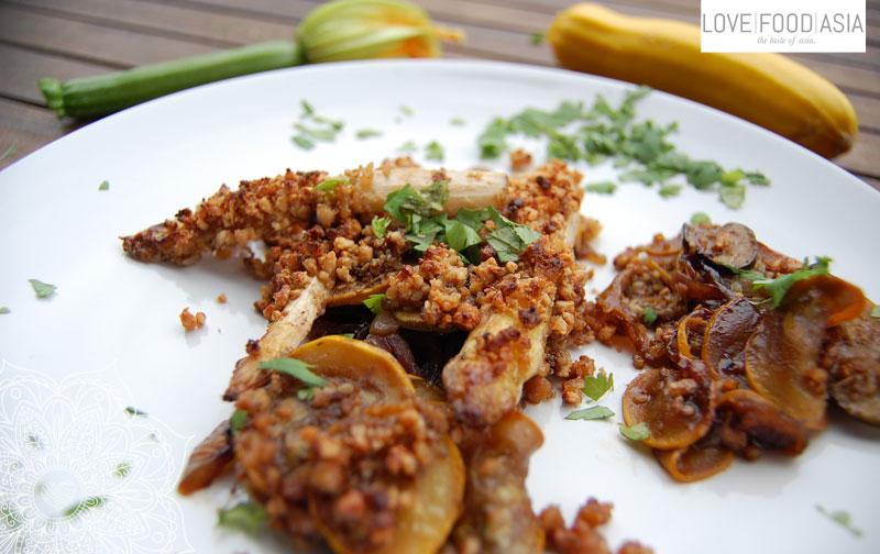 Thailändischer Zucchini Spargel Auflauf