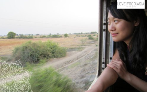 Sen on the train to Thazi