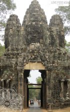 On of the gates in Angkor