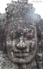 Riesiges Gesicht am Bayon Tempel
