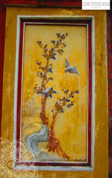 Gemälde in der Zitadelle von Hue