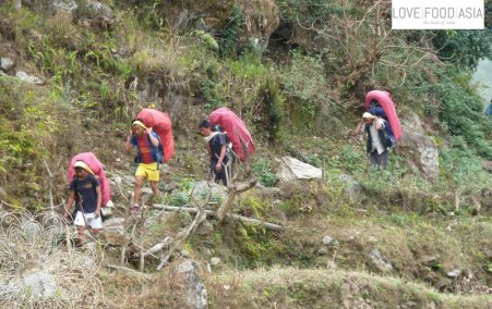 Porters in Nepal