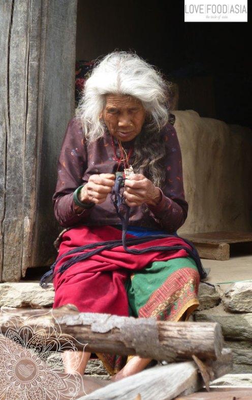 Eine alte Dame