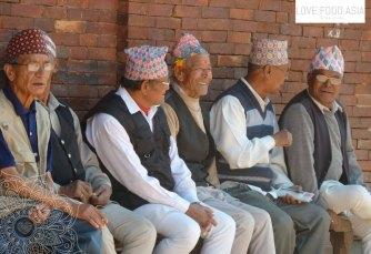 Elderly people in Kathmandu