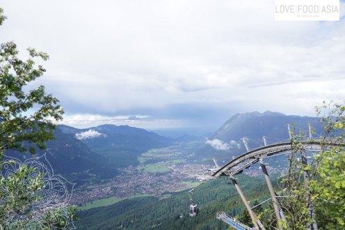 A view down on Garmisch