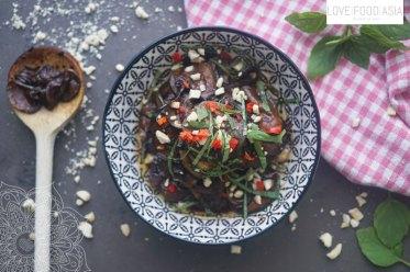 Süß- scharfe asiatische Zucchini Antipasti