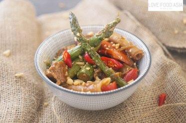 Chinese asparagus chicken