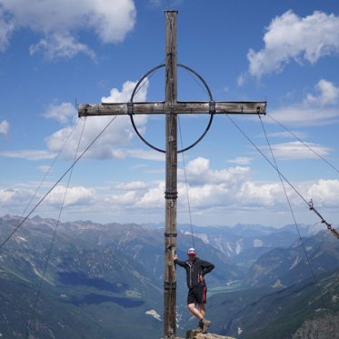 Gamskogel peak cross