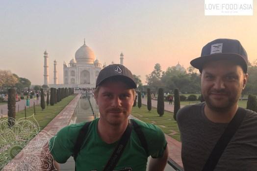 Martin & Matthias at Taj Mahal