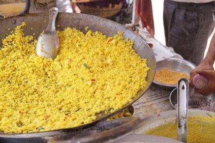 Essen in Pushkar: Poha