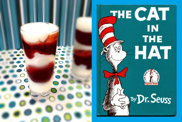 cat in the hat raspberry triffle