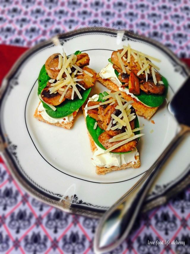 Mushroom Toast Canapes