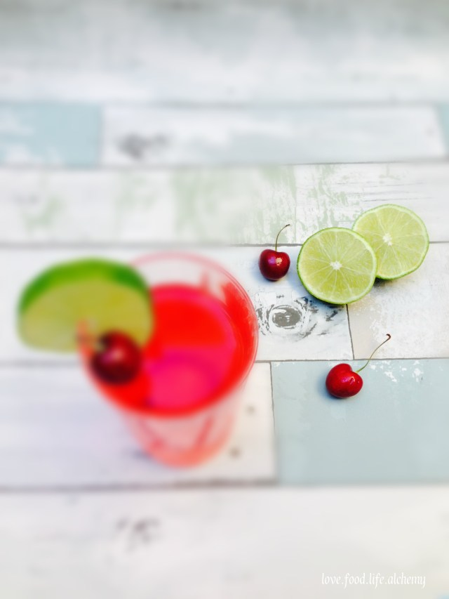 cherry and lime