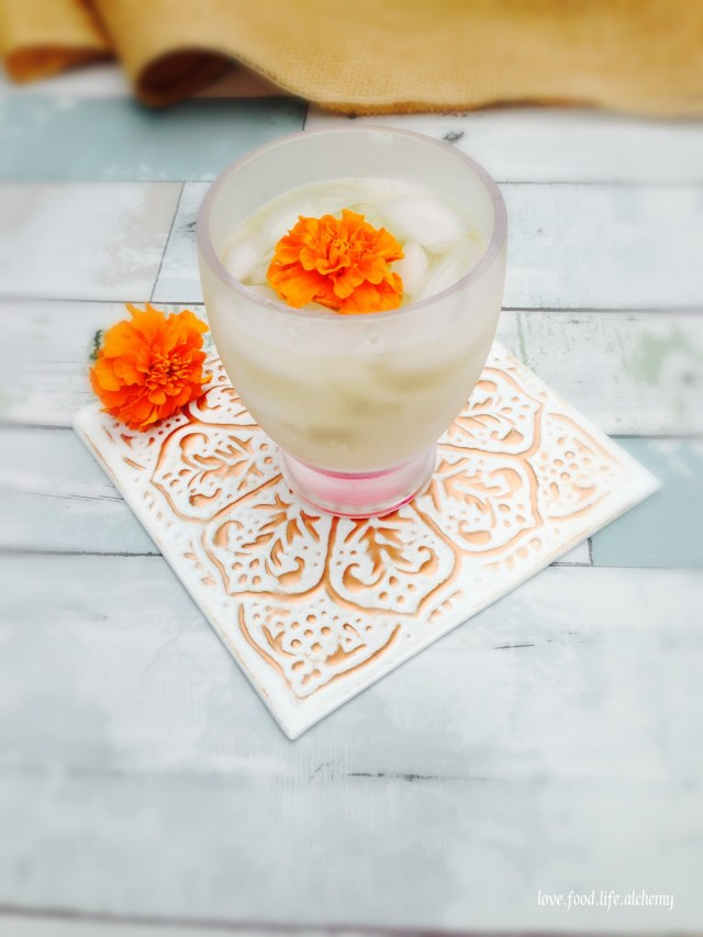 marigold flowers cocktail