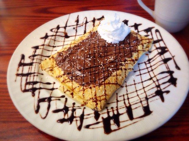 chocolate crepe
