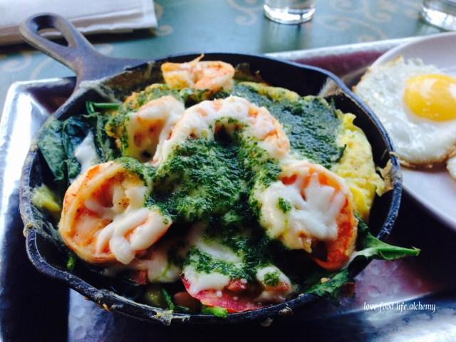 shrimp-omlette