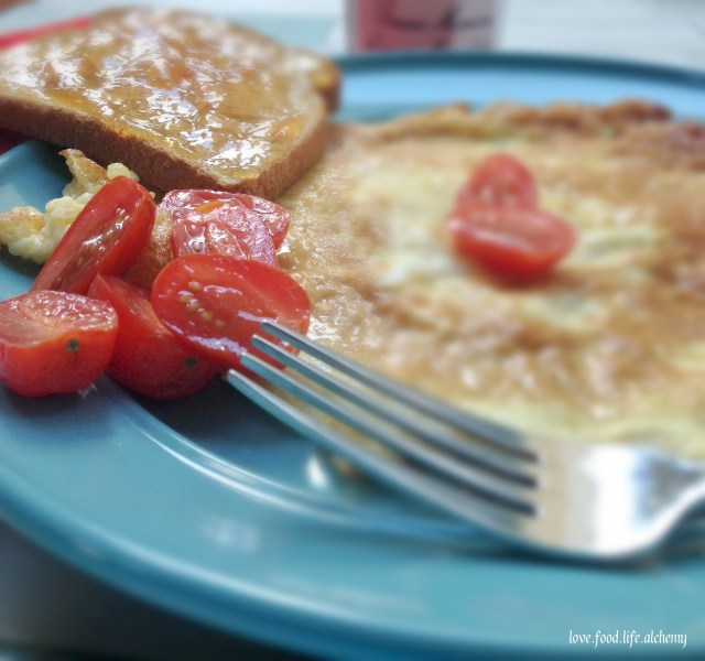 omelete-and-marmalade-on-toast