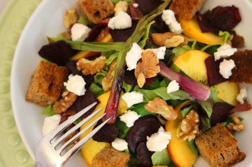 Roasted Beet & Peach Salad