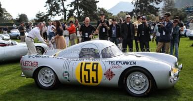 Porsche Race Car Classic 2011 - Quail Lodge - Porsche 550 Spyder Jerry Seinfeld
