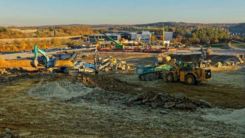 Start of new construction works in Porsche Weissach 2018