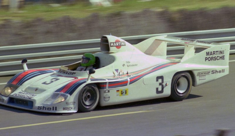 1977 24 Hours of Le Mans : Henri Pescarolo at the wheel of the Porsche 936/77 he shared with Jacky Ick