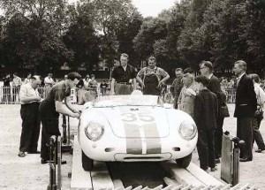 Le Mans 1957 Carel Godin de Beaufort & Ed Hugus