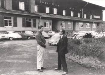 Richard von Frankenberg and Graf  Berghe von Trips at the Nurburgring 1959