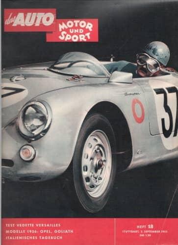 Richard von Frankenberg : cover page of Auto Motor und Sport
