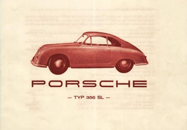 Porsche Gmünd SL brochure