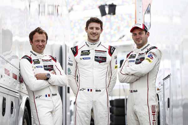 Porsche North America: Patrick Pilet, Kevin Estre, Nick Tandy (l-r)