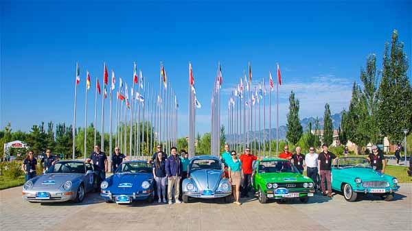 Starting team Volkswagen Group: from left: Porsche, Volkswagen, Audi and Skoda