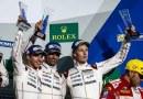 FIA WEC 6H Fuji - Porsche Team: Timo Bernhard, Mark Webber, Brendon Hartley (l-r)